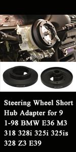 Steering Wheel Short Hub Adapter for 91-98 BMW E36 M3 318 328i 325i 325is 328 Z3 E39