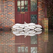 sandbags protecting door