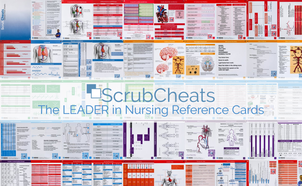 Amazon scrubcheats 50 nursing reference cards heavy its finally here the latest in clinical practical and study help with more information right at your fingertips if you have been feeling the need to negle Choice Image