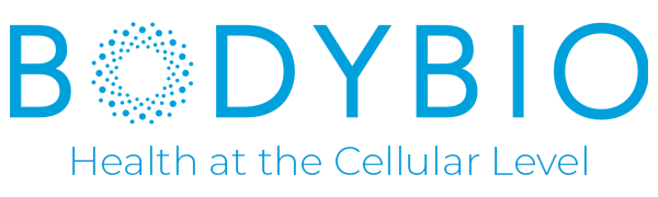 BodyBio bb body bio health at the cellular level logo header blue