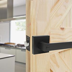 black door levers