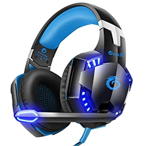 G2000 Stereo Gaming Headset for Xbox One PS4 PC, Surround Sound Over-Ear Headphones