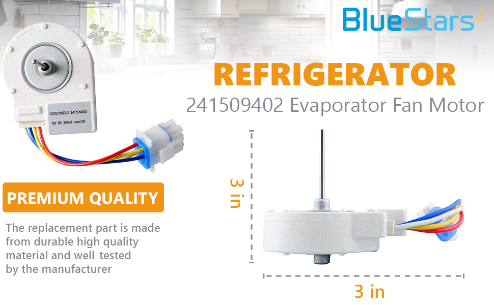 wiring diagram for an evaporator fan motor amazon com ultra durable 241509402 evaporator fan motor  ultra durable 241509402 evaporator fan
