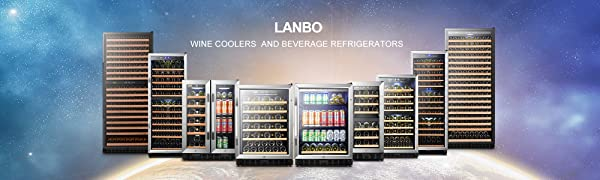 LANBO WINE COOLERS AND BEVERAGE REFRIGERATORS