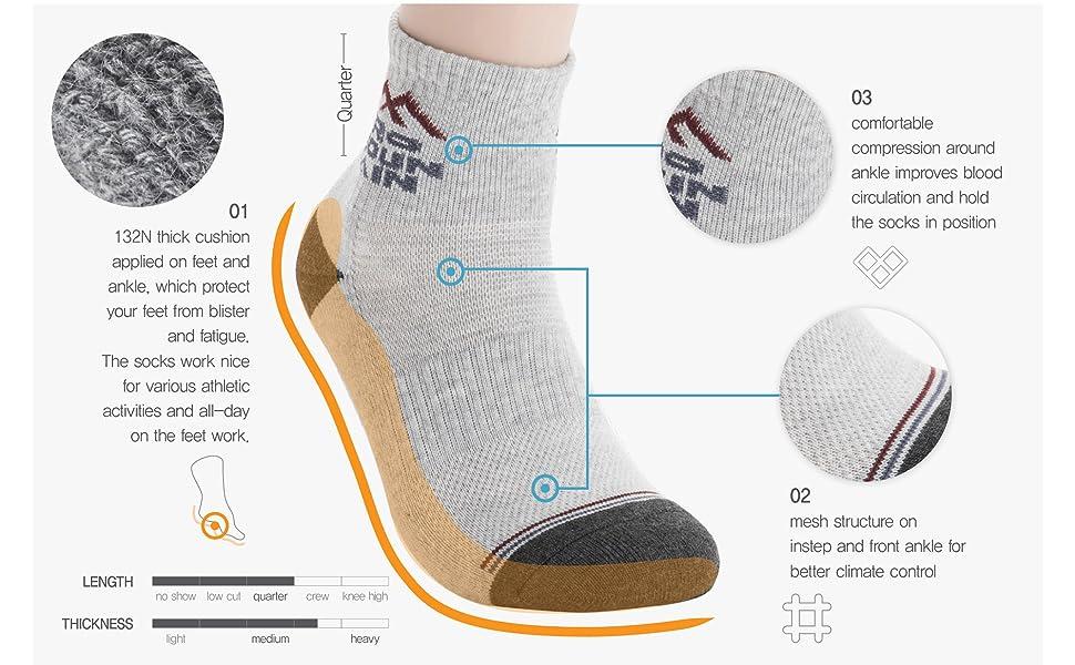 cotton socks quarter hiking sports