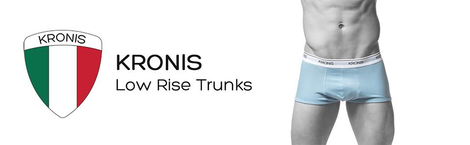 KRONIS Mens Underwear Low Rise Trunks