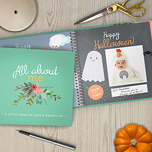 halloween and holidays included in floral all about me baby journal by rubyro roo baby