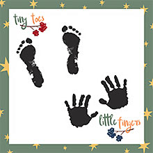 baby handprint and foodprint and other firsts