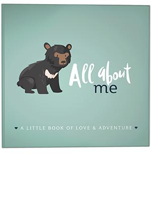 rubyroo baby journal woodland bear cover