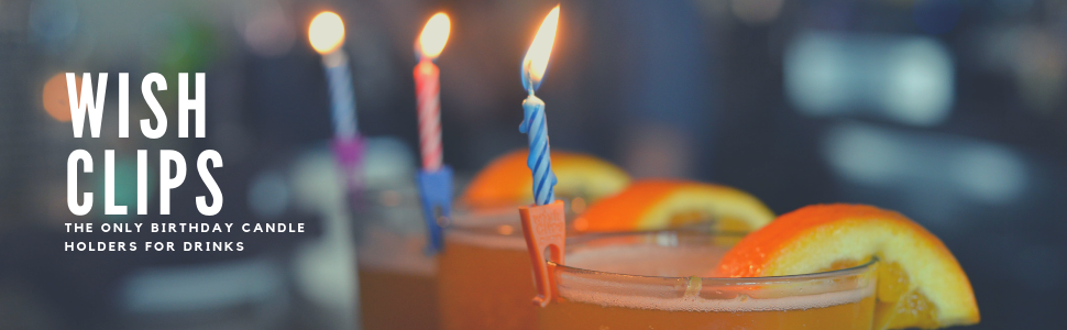 Amazon Wish Clips Birthday Candles For Drinks