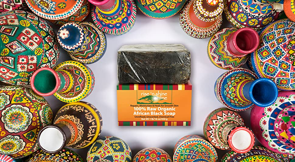 Amazon.com : (16 oz) Raw African Black Soap with Coconut