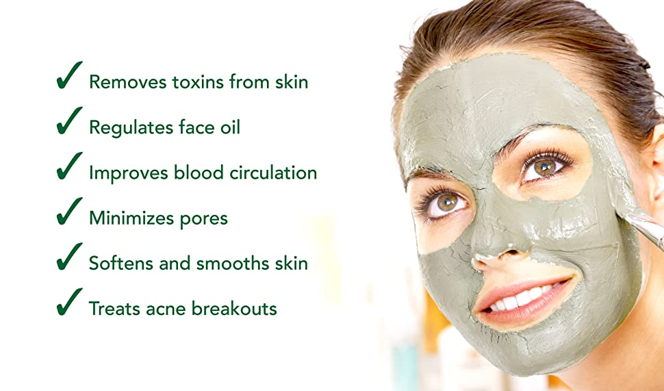 what does bentonite clay do for skin
