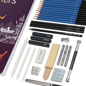 pencils erasers skech pad 100 sheet