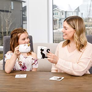 Infloatables Novelty 3D Unique Coffee Mug and Coaster Combos. Fun Cool Gifts for Daughters Mothers