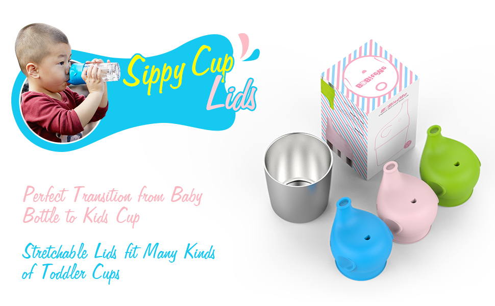 Amazon.com: Silicone Sippy Cup Lids - Perfect Transition ...
