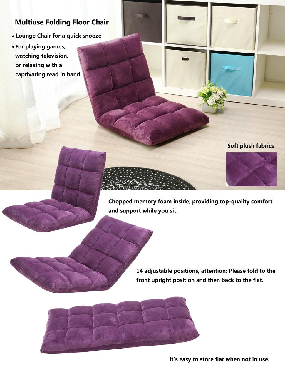 Amazon HollyHOME Adjustable Memory Foam Floor Chair 14