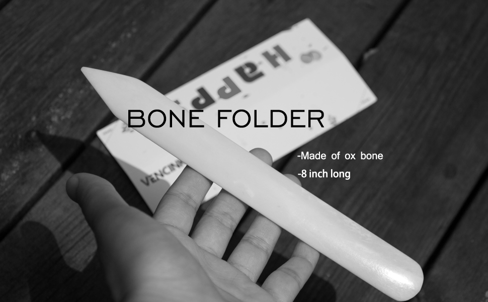 GenuineBone Folder Crafts Scoring Plegado Doblado Papel Crafting Scrapbooking Tool