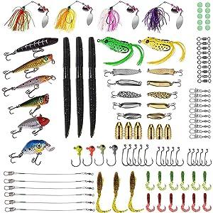 102 pcs fishing lures