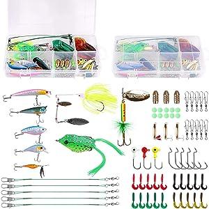 22 pcs fishing lures