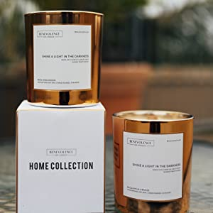 rose gold soy candles