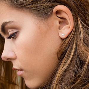 3c440b5de Amazon.com: Opal Earrings - Celebrity Approved Opal Stud Earrings ...