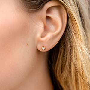 cz stud for women dainty earrings fashion jewelry