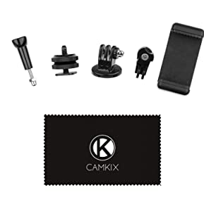 GoPro Hero and CamKix Hot Shoe Mount Adapter Kit compatible with Phone