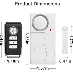 Amazon Com Wsdcam Door Alarm Wireless Anti Theft Remote
