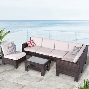 Charmant Diensday S Series 7 Piece Patio Furniture Sets Available In Three Color:  Beige, Navy Blue, Red