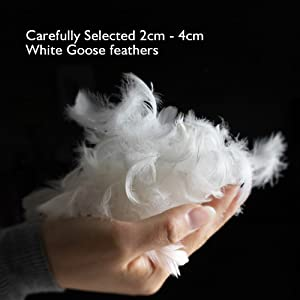 white goose feather pillow bed pillow