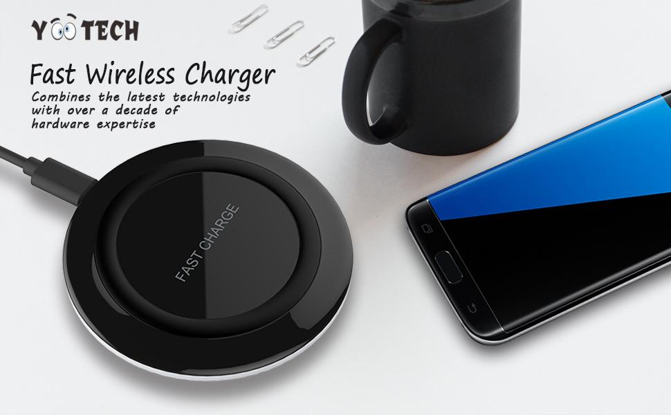 Amazoncom Fast Wireless ChargerYootech Fast Charge QI Wireless