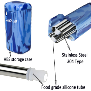 recycle straws with case