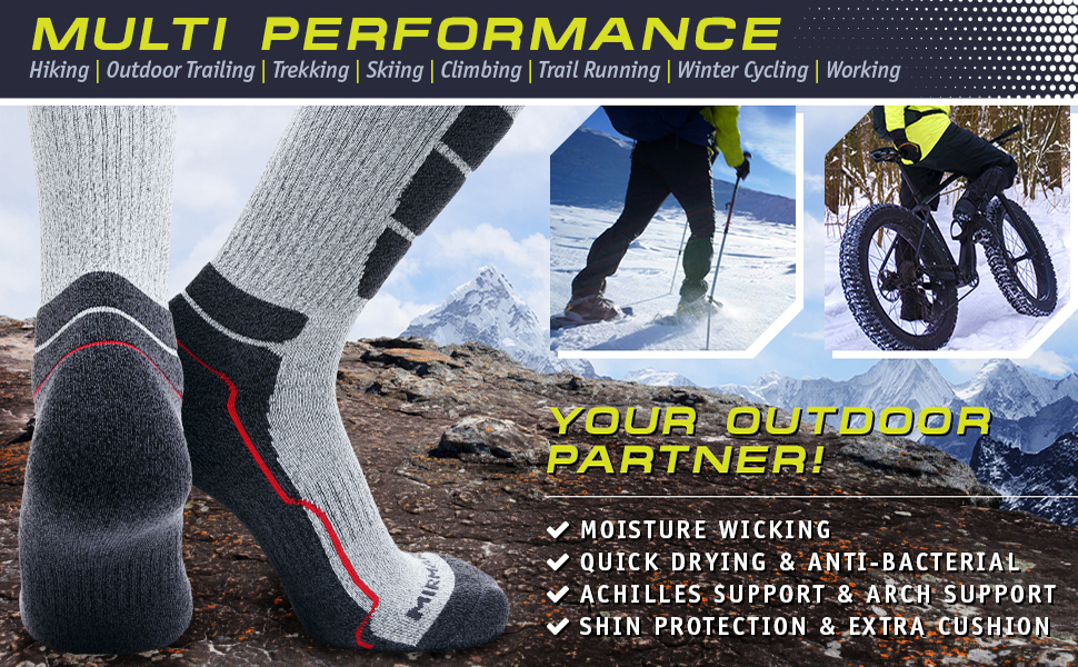 Multi performance – great for numerous outdoor activities
