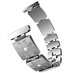 Lwsengme 22mm Stainless Steel Bracelet Quick Release Watch Band Straps,Choose Color & Width Smartwatch Bnad for Samsung Gear S3 Classic (NOT include ...