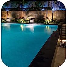 pool solar lights