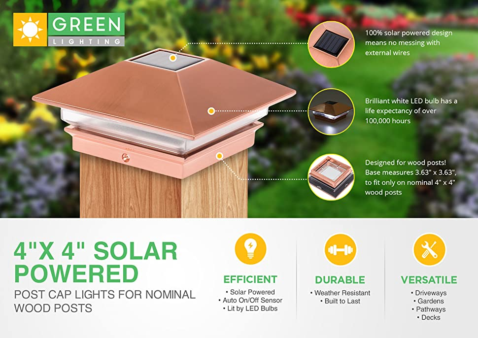 Create An Inviting Atmosphere On Your Porch, Deck, Or Yard With These  Nominal 4u201d X 4u201d Solar Powered Post Cap Lights By GreenLighting.