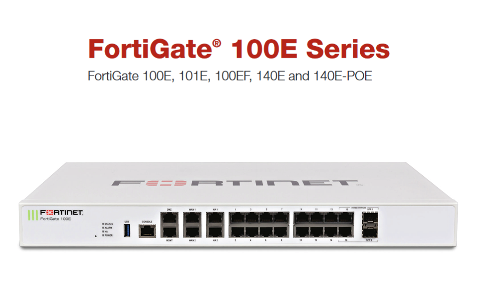 Fortinet | FG-100E | FortiGate-100E Network Security Appliance