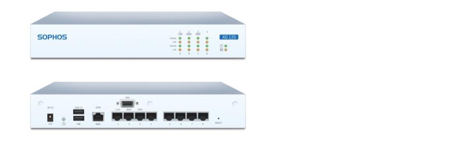 Sophos | XG 125 rev 2 TotalProtect 3 YR BDL | Next-Gen VPN Firewall  Appliance and FullGuard License 3 Year | XB1C3CSUS