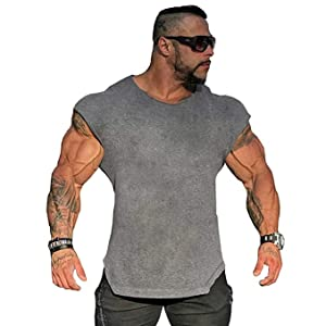 f3b1dcf9 Amazon.com: Muscle Killer Mens Workout Gym Tanks Muscle Cut Out ...