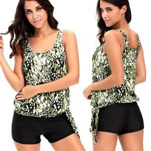 Amazon.com: Alvaq set de tankini con camiseta y culote ...