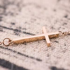 Sideways Cross Bracelet bangle
