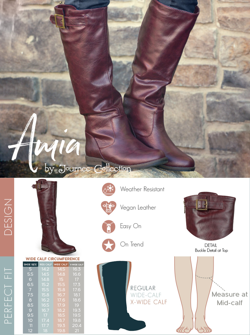 Journee Collection Amia ... Women's Riding Boots UPtwnZb