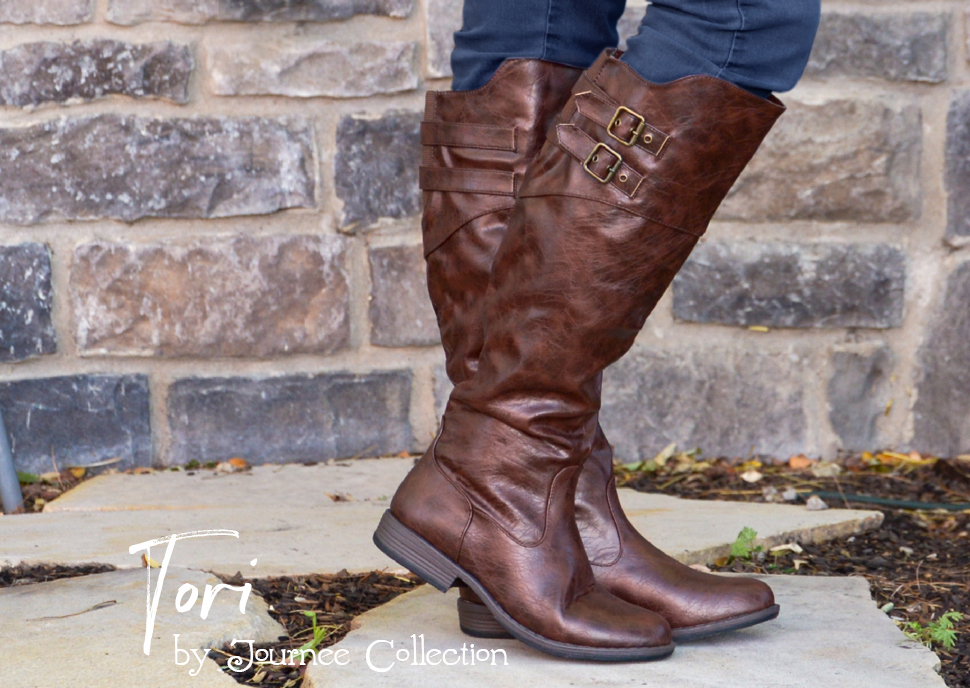 8ae9d52314f ... riding boots this year by Journee Collection. These knee-high boots  highlight premium uppers that rise to the knees. Contrasting outsoles and  double ...