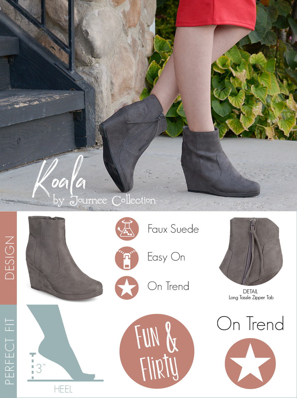 Journee Collection Enter ... Women's Wedge Booties IGHO9jDAyX