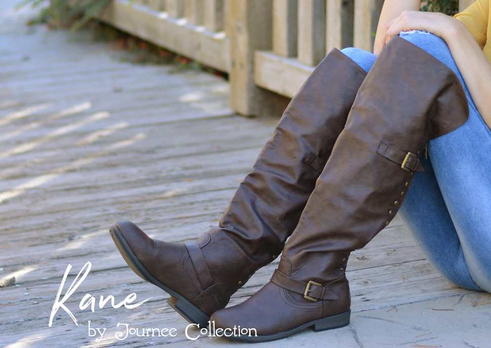 cab2cf7dde8e Add season-ready footwear to your style this year in tall riding boots by  Journee Collection. These stylish boots highlight premium faux leather  uppers that ...