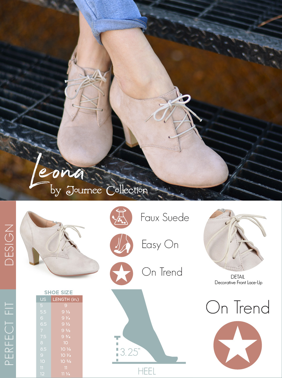 Journee Collection Leona ... Women's Oxford High Heels best place for sale 0dW0i5V
