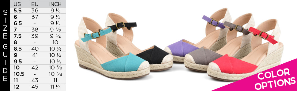 f5bd95374 Amazon.com  Brinley Co Comfort Womens Espadrille Ankle Strap Wedge ...