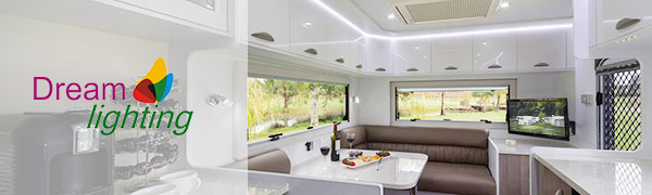 Dreamlighting 12Volt 114 mm 4.5 LED Ceiling Light Caravan Motorhome Boat Dome Lamp
