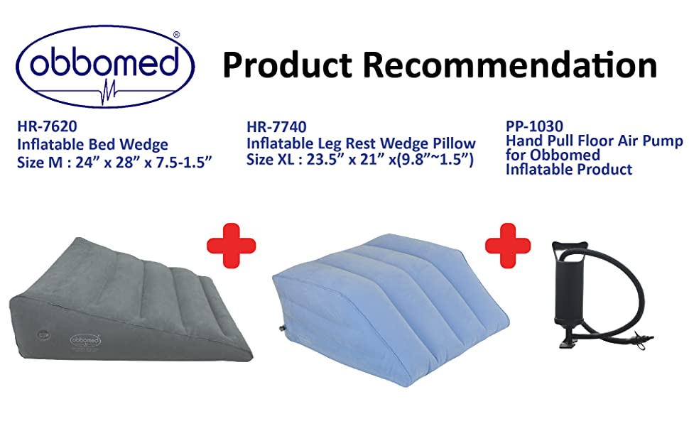 Obbomed Inflated Wedge cushion pillow