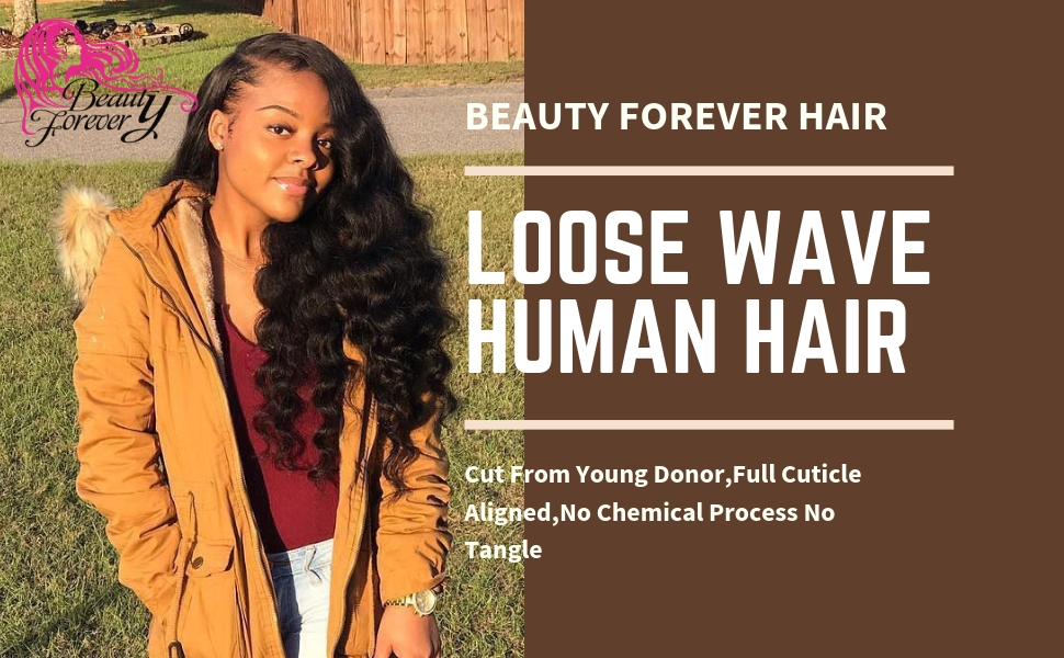 loose wave with lace closure
